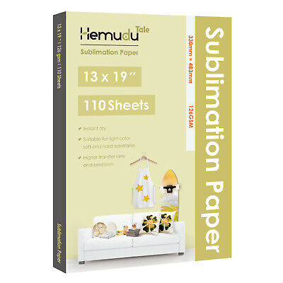 Hemudu 110 Sheets 13x19 126gsm Dye Sublimation Heat Transfer Paper Inkjet Epson