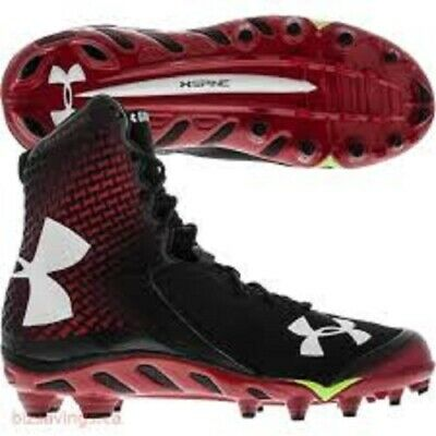 07ab69510355 Under Armour Men's UA Spine Brawler Mid Football Cleats NEW 1246128-061  SIZE 14