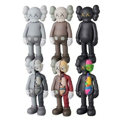 """KAWS COMPANION Flayed Open Dissected BFF 8"""" PVC Action Figures Toys New In Box"""
