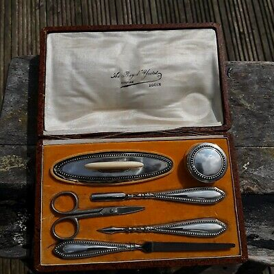 Antique French Silver Manicure Set