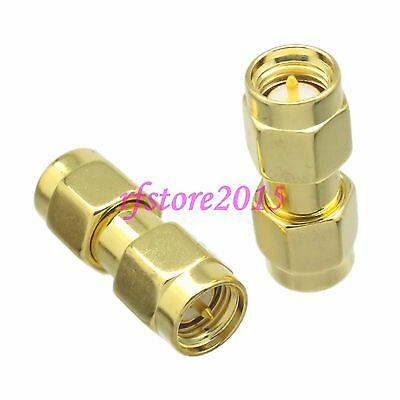 1pce Adapter Connector SMA male plug to SMA male plug for Wifi Antennas