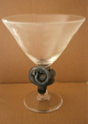 Thomas Goode Large Glass Goblet With Serpent As Stem