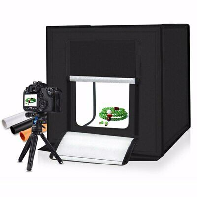 Light Box LED 60*60CM Portable Photo Studio With 4 Color Background For Photo