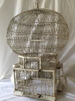 Antique Parisian bird/parrot cage. Vintage wedding decor. Shabby chic. Rustic.
