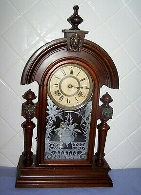 Antique American Ansonia King 8 Day Mantle Clock C1900