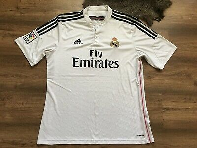 Real Madrid Spain 2014 Home Football Shirt Jersey Camiseta Large