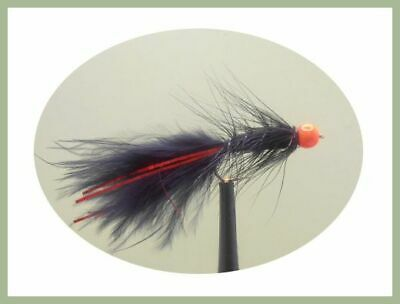 Flash Damsels Choice of Size /& Flash Colour Red or Blue Flash /& GBH Trout Flies