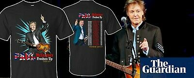 Paul McCartney T-Shirt 2019 Freshen Up Concert Tour T Shirt 2 Side Singer Tee
