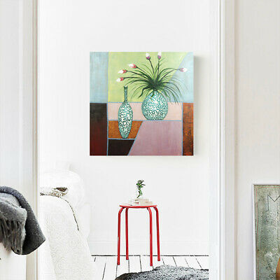 2019 Abstract Hand Painted Art Oil Painting Wall Modern Canvas Framed Magnolia