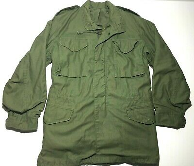 Coat Cold Weather Field OG 107 M 65 Men's Army Jacket Small Long