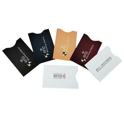 5X Anti Theft RFID ID Credit Card Protector Blocking Sleeve Skin Card Case