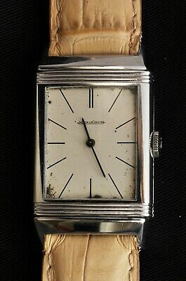 Jaeger Le Coultre rare vintage 1940/45 man's Reverso Staybrite Steel exc+++