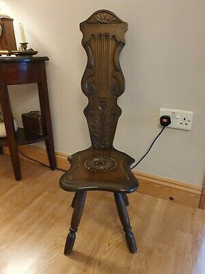 Vintage Lyre Design Spinning Stool