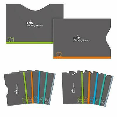 Aerb set 12 card case ash Horizontal Vertical inserting type RFID a... fromJAPAN