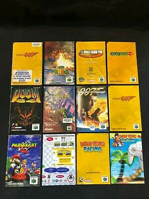 N64 Booklets and Manuals Nintendo 64 007 super mario doom mariokart
