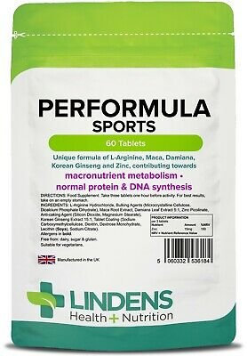 Performula Sports Tablets (60 pack) protein & DNA synthesis [Lindens 6184]