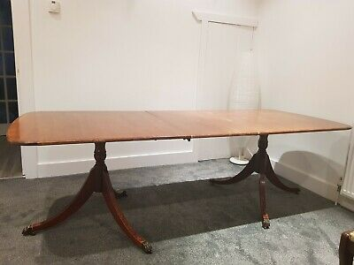 Mahogany Dining Table (Extendable) & 8 'Regency' Style Chairs (inc 2 Carvers)
