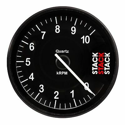 Stack ST200 Clubman Tachometer/Rev Gauge 0-10,000 Rpm Black