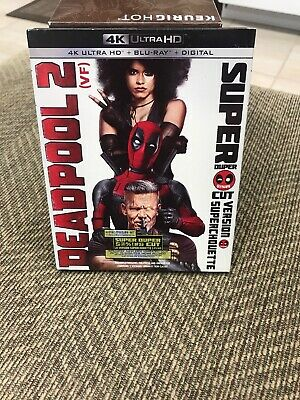 Deadpool 2 Unrated & Uncut 4K Ultra Hd/Bluray/Digital Set With Slipcover 4 Disc