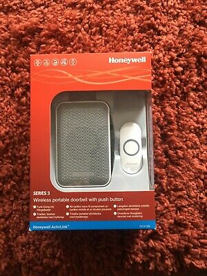 Honeywell Series 3 Wireless Portable Doorbell With Pish Button