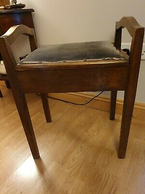 Antique Lift Lid Piano Stool
