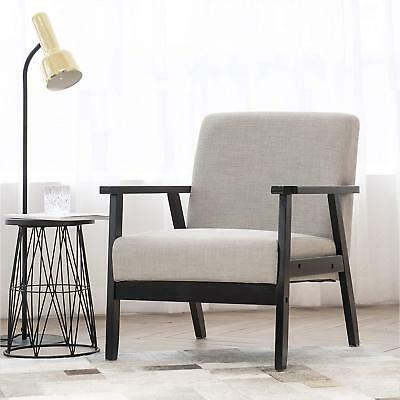 Cool Retro Modern Arm Chair Fabric Upholstered Wooden Living Room Spiritservingveterans Wood Chair Design Ideas Spiritservingveteransorg