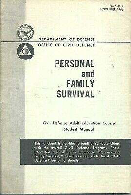 United States 1960's Civil Defense Cold War Family Survival Manual DOD Book.