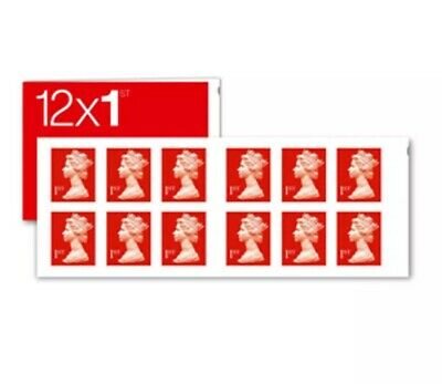 NEW 1st Class Stamps Mint Royal Mail Book Sheet of 12 VERY QUICK!!!
