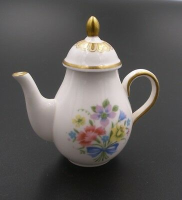 Spode Miniature China Coffee Pot, Floral Pattern Immaculate, Dolls House, no box