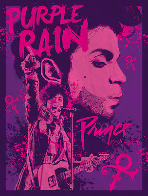 PRINCE PURPLE RAIN MOVIE POSTER Bike Cloud Guitar Art Photo Print Poster A3 A4