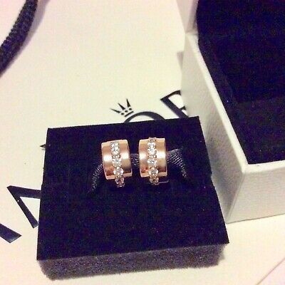 7a97172c4 NEW 2x Pandora Rose Gold Shining Path Clip Charms (rrp£90) Pair in