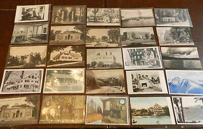 Lot of 25 Postcards (Lot 419) Old Maine 1913 to 1960's