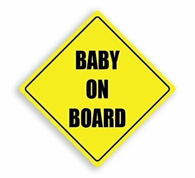 Baby On Board Yellow Child Safety Vinyl Car Sign 15Cm