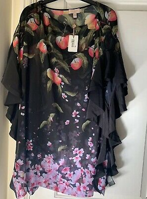 925d7ade7 Ted baker twisela peach blossom square cover up Medium Fits UK 12 Size 3