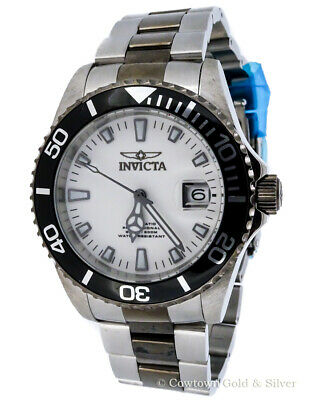 Invicta Mens Pro Diver 43Mm Automatic Professional White Dial Watch 10498