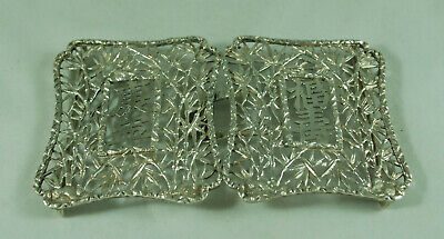 Antique Chinese Silver Belt Buckle Hung Chong c1900 56g 12.4cm x 7cm