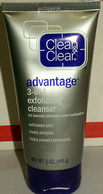 Clean & Clear Advantage 3-in-1 Exfoliating Cleanser 5 Oz *old stock HTF Exp:2014