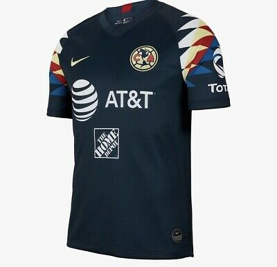 59d8ab230a5 NIKE CLUB AMERICA Official 2019 2020 Away Soccer Football Jersey ...