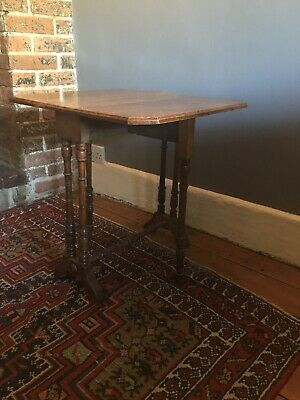 Antique Walnut Victorian Sutherland Drop Leaf Table.