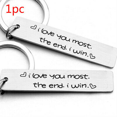 Stainless Steel Keychain Gift Creative Lettering Pendant Couple Jewelry Gift