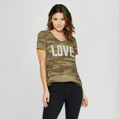d780cdafafe81 Women's Short Sleeve Love Clavicle Strappy Graphic T-Shirt - Grayson Threads  XS