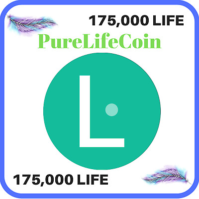 175,000 PureLifeCoin (LIFE) CRYPTO MINING CONTRACT 175,000 LIFE, Crypto Currency