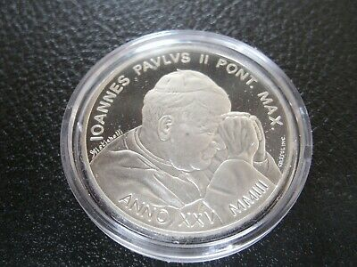 Silver 2003 5 and 10 Euro Coins Vatican JP2 w/cases etc proof