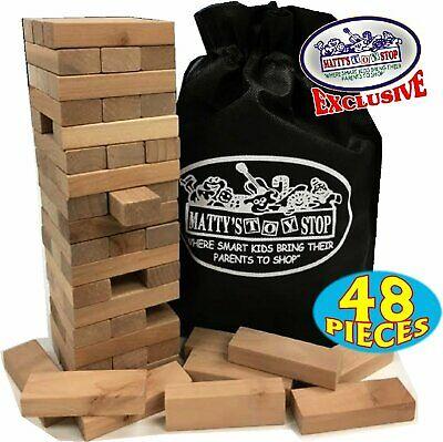 Jenga Game Wooden Blocks Stacking Tumbling Tower Kids Ages 6 And Up