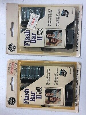 Two GE Flash Bar II Twin Packs for Polaroid SX-70 Instant Film Cameras