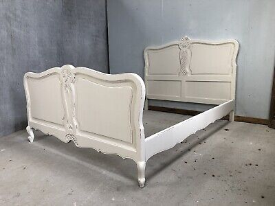 Vintage French Double size bed/ Painted French bed shabby chic style(VB506)