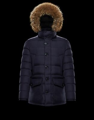 1a8741688 AUTH MONCLER AFFTON Coyote Fur Hood Puffer Mens Jacket Sz 3 -Large ...
