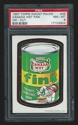 1967 Topps Wacky Packages #35 Canada Wet Fink PSA 8