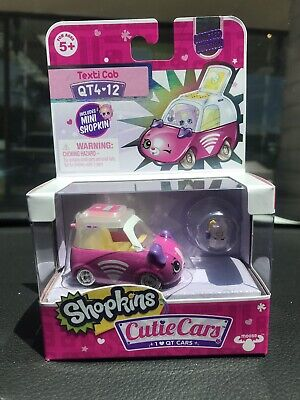 Shopkins Cutie Cars Texti Cab Limited Edition Qt4-12 Chase Vhtf Glow In The Dark
