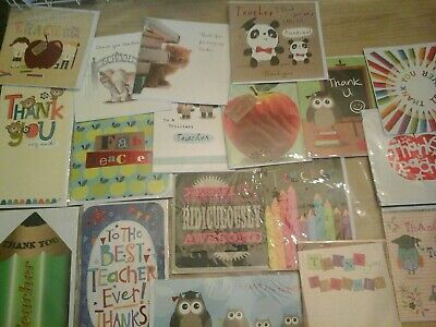25 Teacher Cards, Wholesale Joblot Greeting Cards